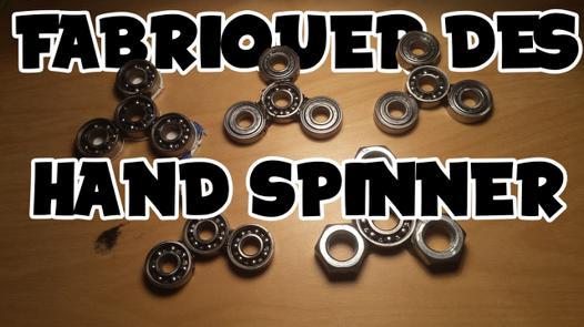 fabrication de hand spinner