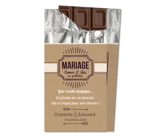 faire part mariage chocolat