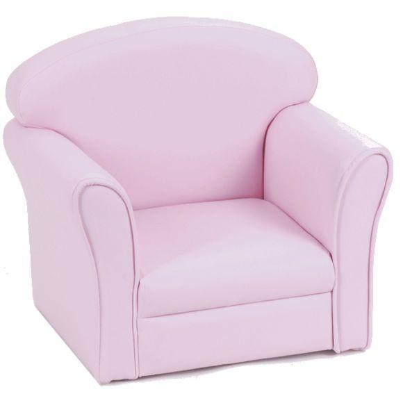 fauteuil club enfant rose