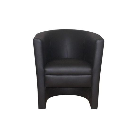 fauteuil cuir noir pas cher