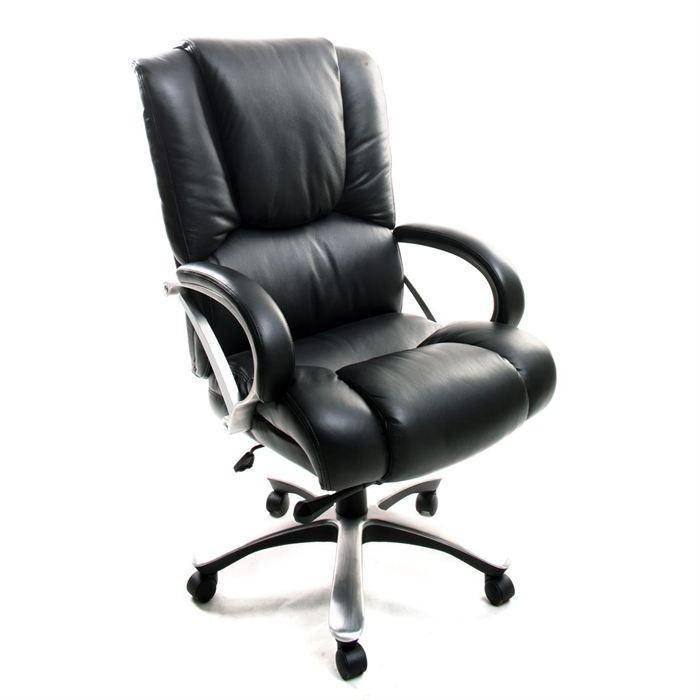 fauteuil de bureau cuir noir