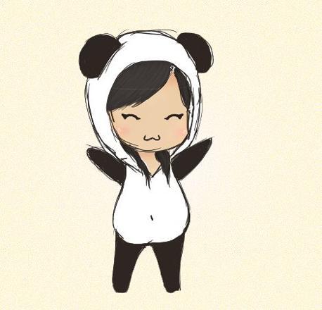 fille panda kawaii