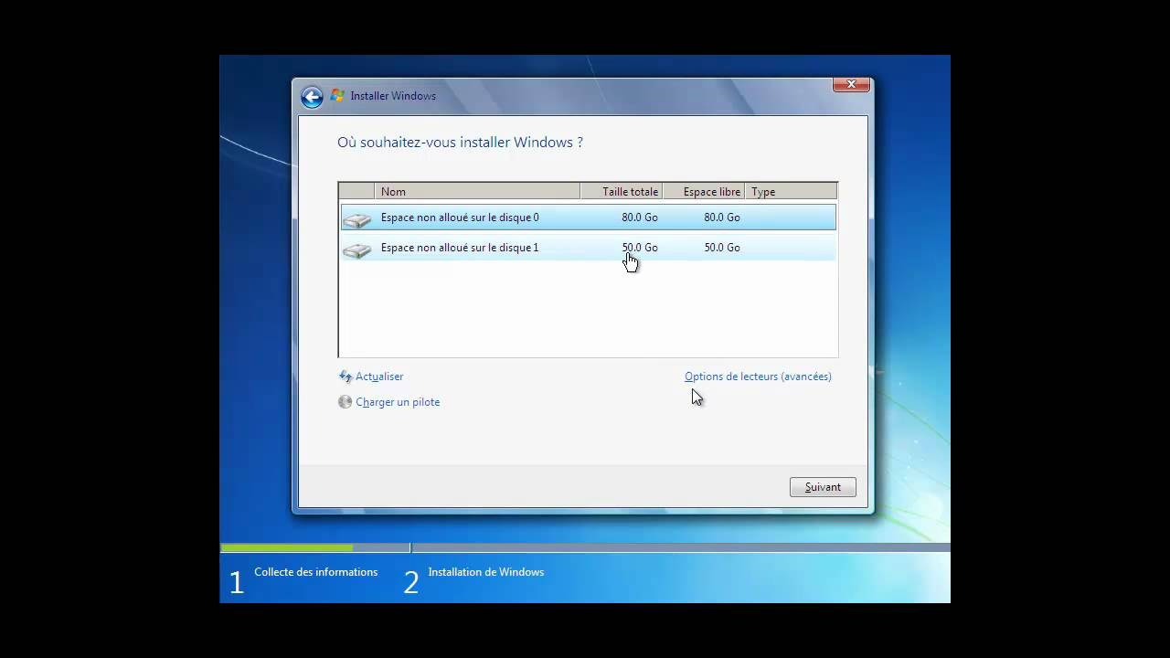 fin de l'installation windows 7 longue
