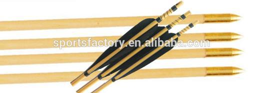 fleches bois pour longbow