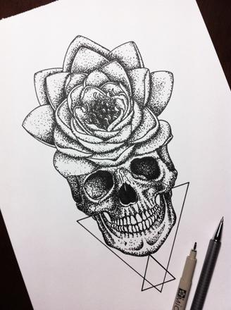 fleur swag dessin