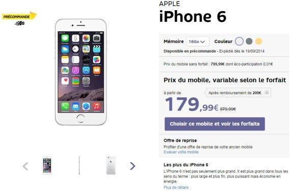 forfait avec iphone 6