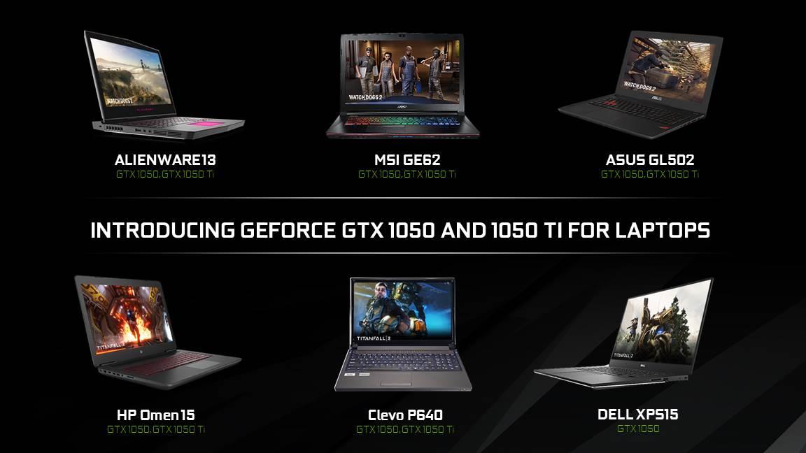 gtx 1050 pc portable