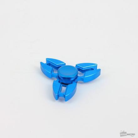 hand spinner shuriken bleu