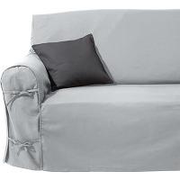 housse de canapé gris clair