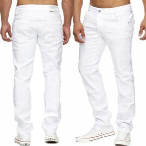 jean blanc homme
