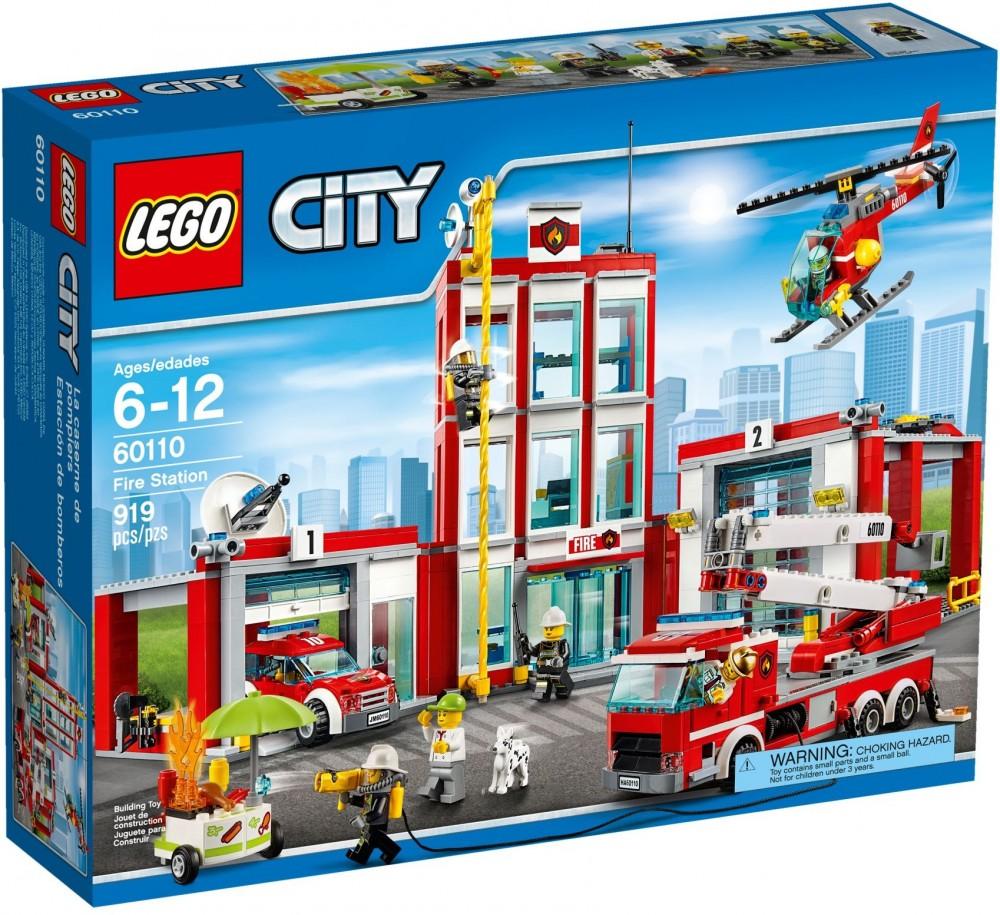 la caserne des pompiers lego