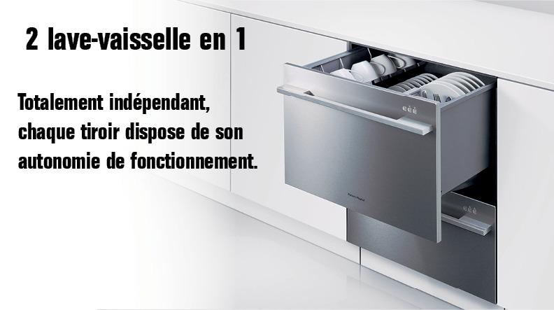 lave vaisselle double tiroir