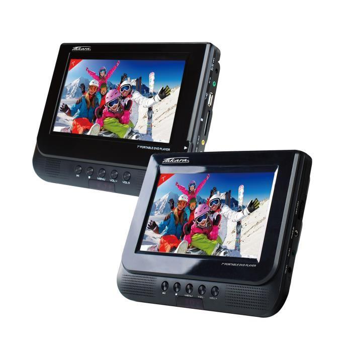 lecteur dvd portable double ecran pas cher