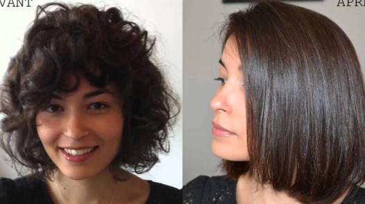 lisser des cheveux courts