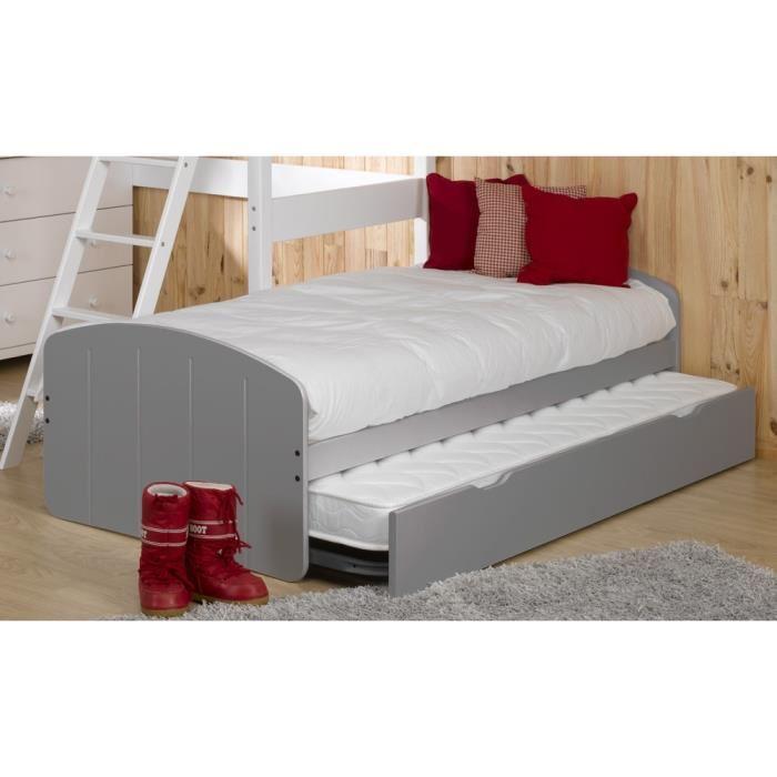 lit avec 2 matelas