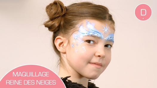 maquillage reine des neiges petite fille
