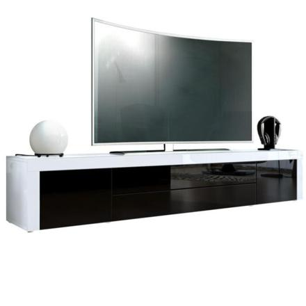 meuble tv blanc et noir