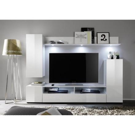 meuble tv mural blanc