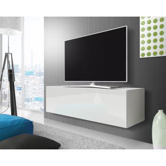 meuble tv suspendu blanc