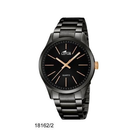 montre acier noir