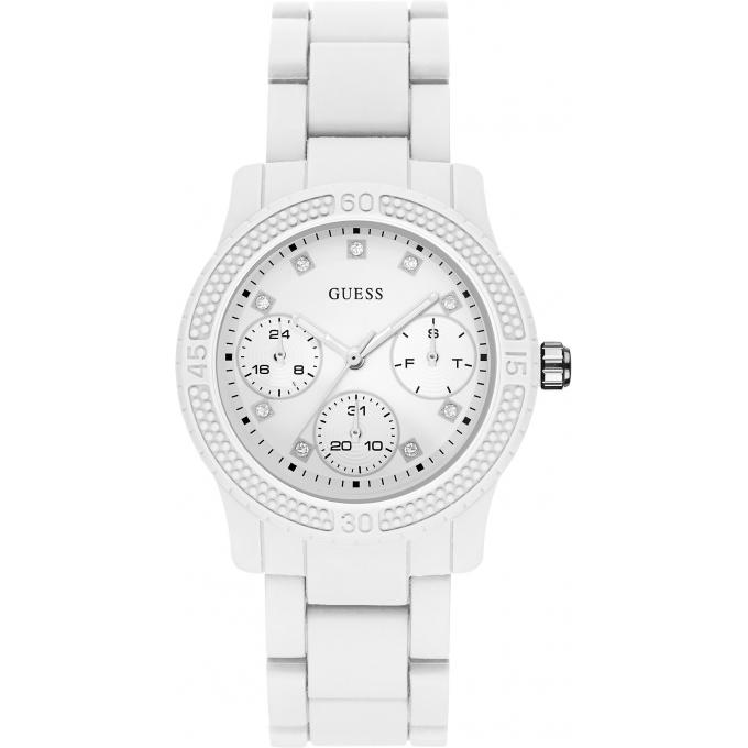 montre blanche guess