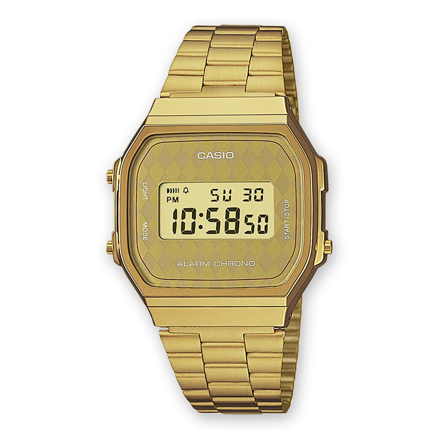 montre casio couleur or