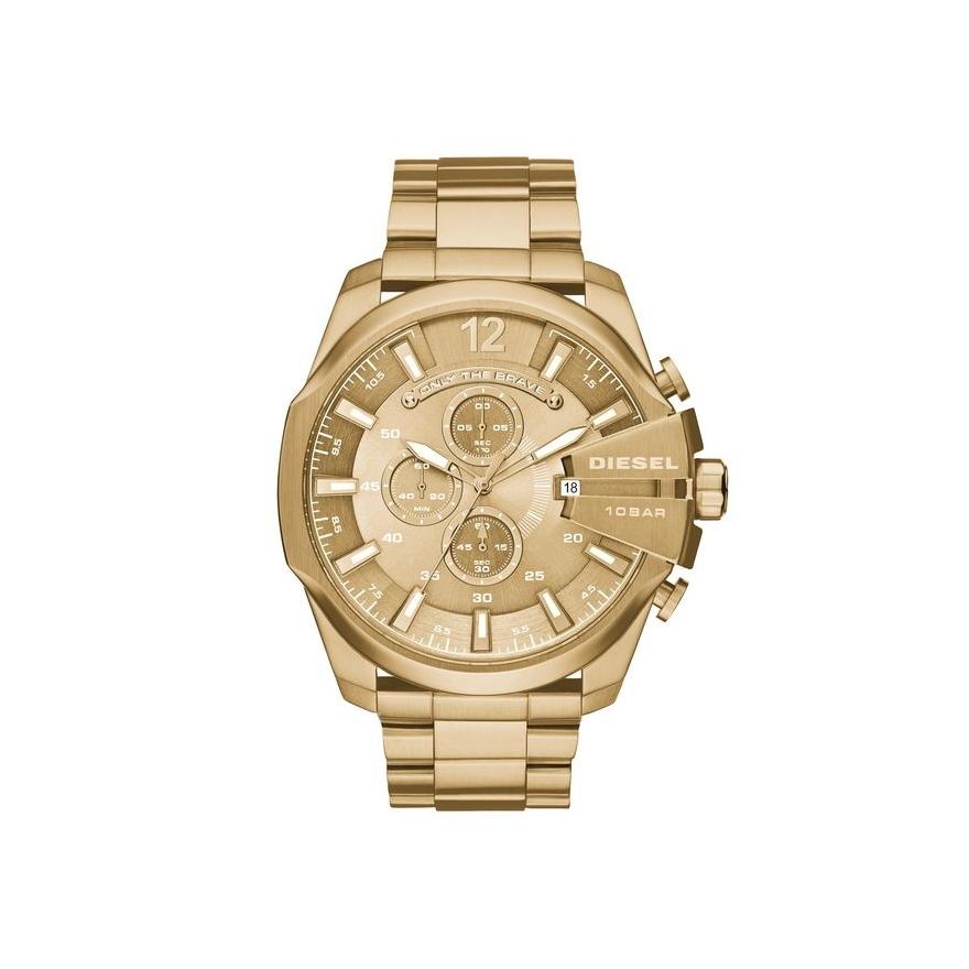 montre diesel homme doré