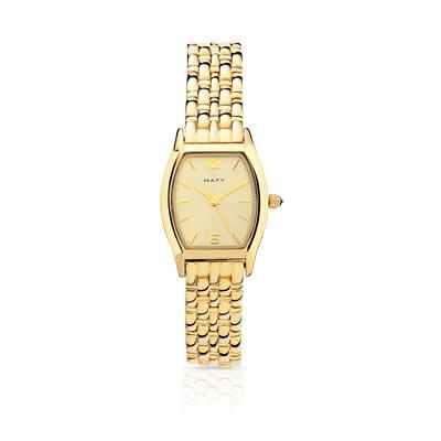 montre en plaqué or femme