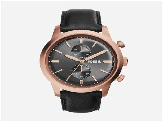 montre fossil homme bracelet cuir