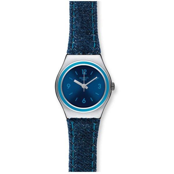 montre swatch cuir femme