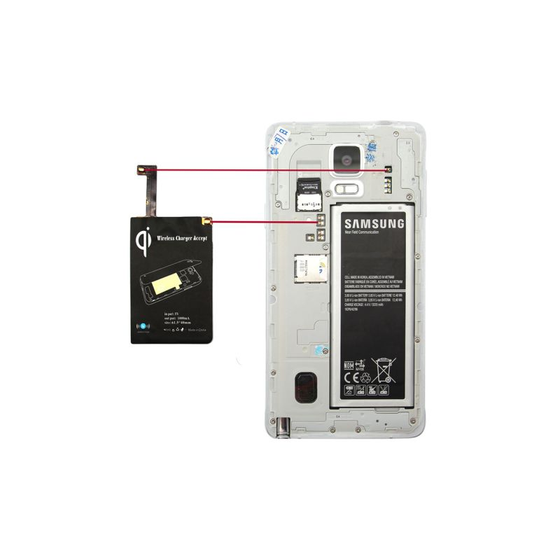 note 4 chargeur induction