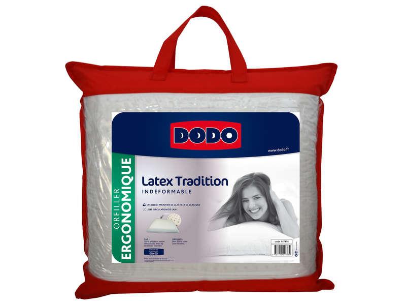 oreiller ergonomique latex dodo