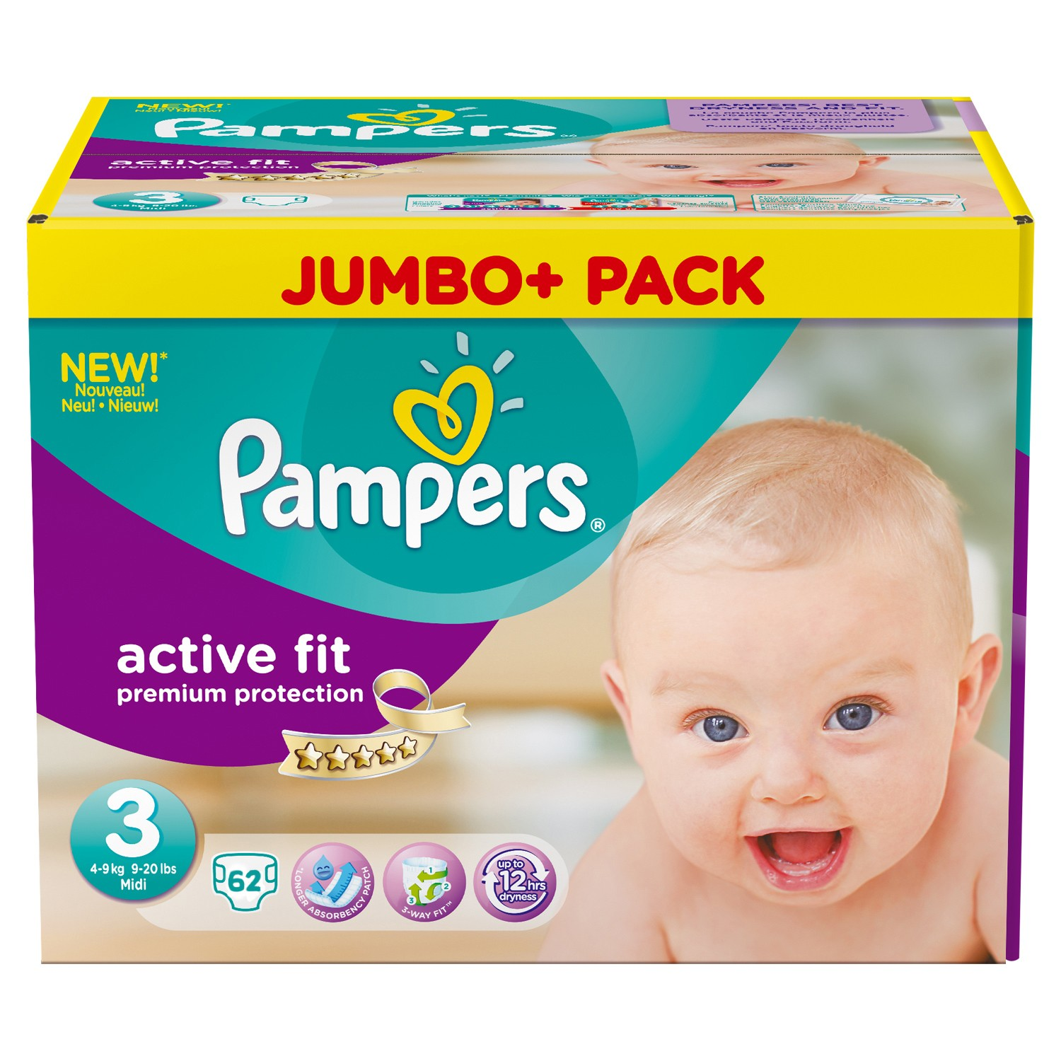 pampers active fit taille 3