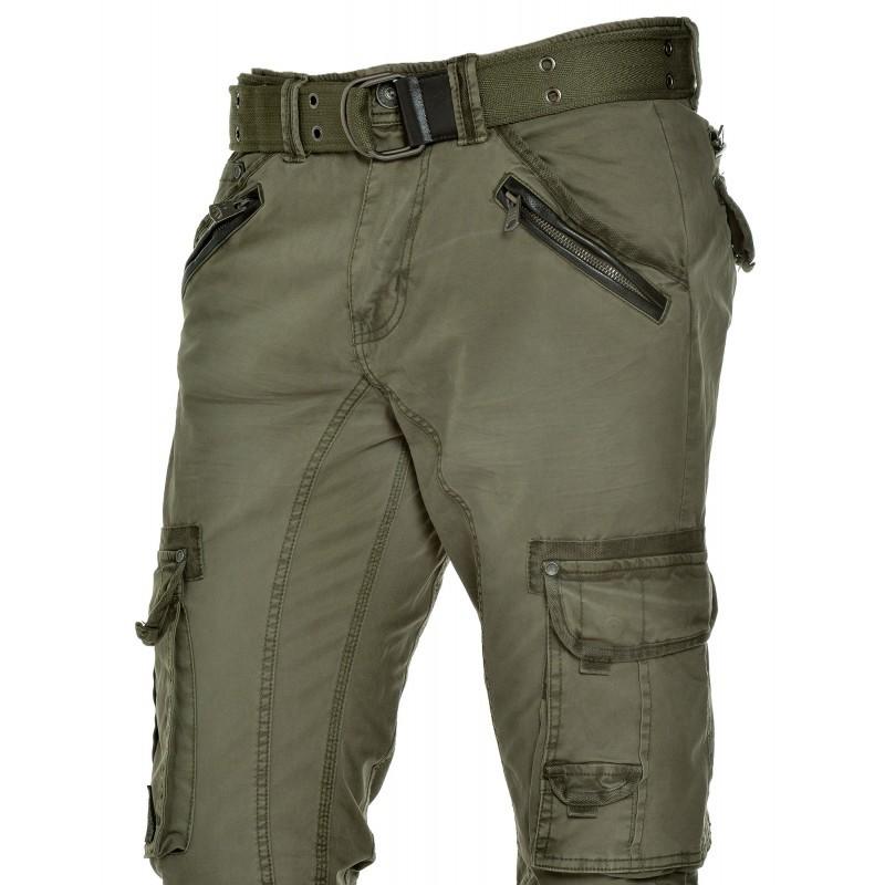 pantalon multipoches homme pas cher