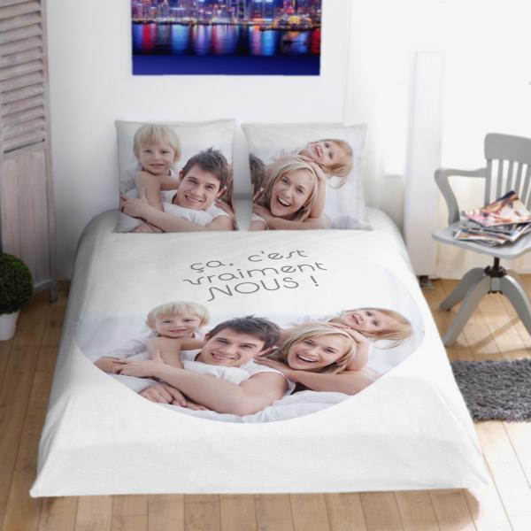 parure de lit personnalisé pas cher