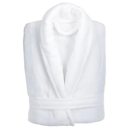 peignoir blanc pas cher