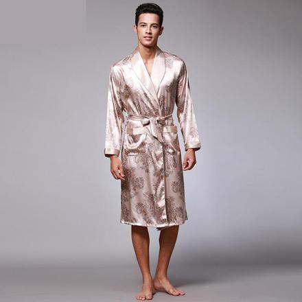 peignoir kimono homme satin