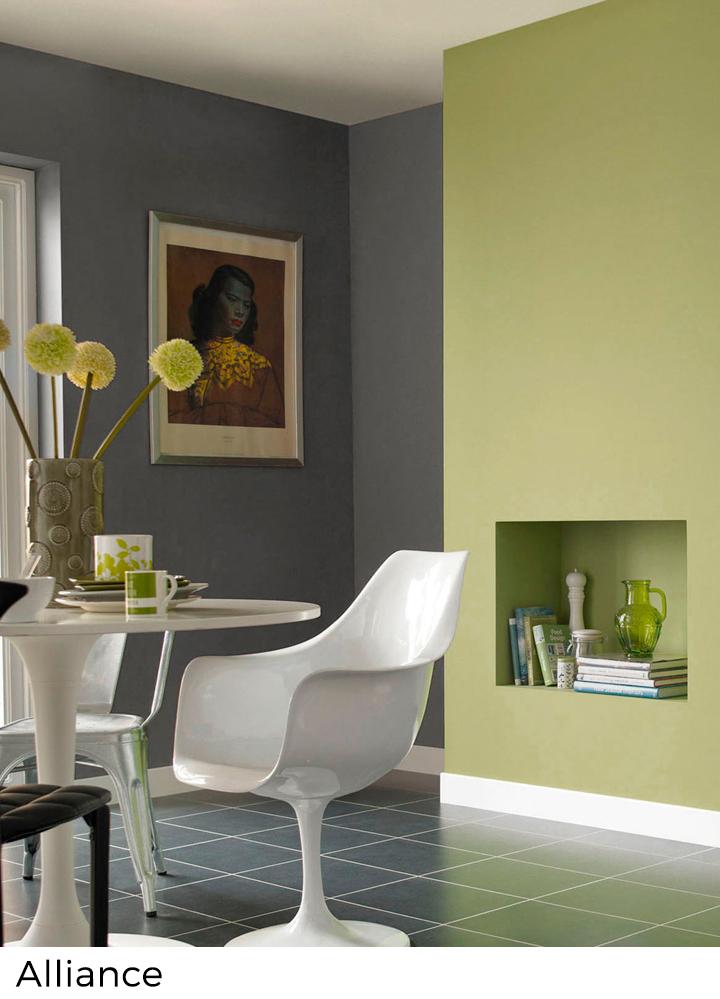 peinture murale verte