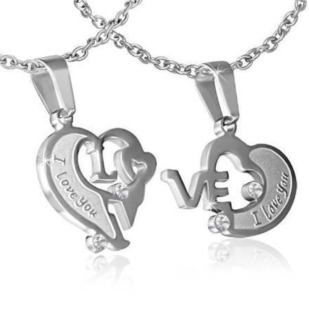pendentif coeur en deux parties
