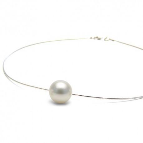 pendentif perle de culture blanche
