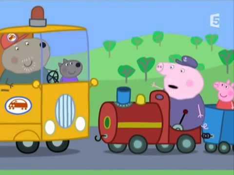 peppa pig en francais le petit train