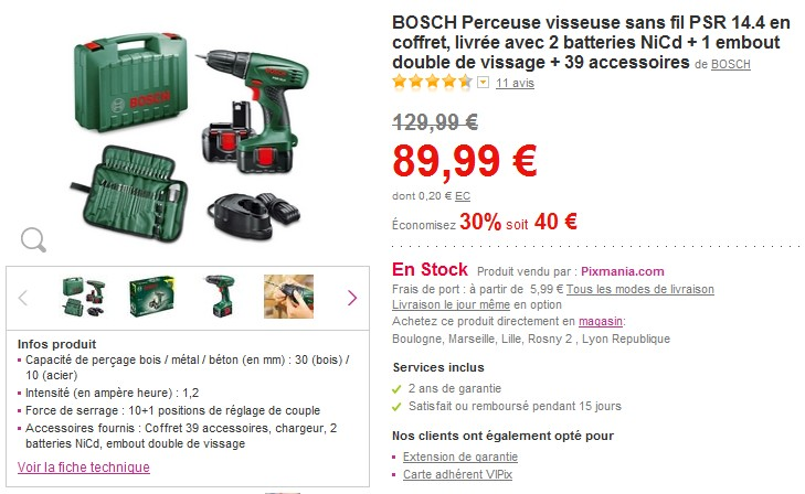 perceuse en promo