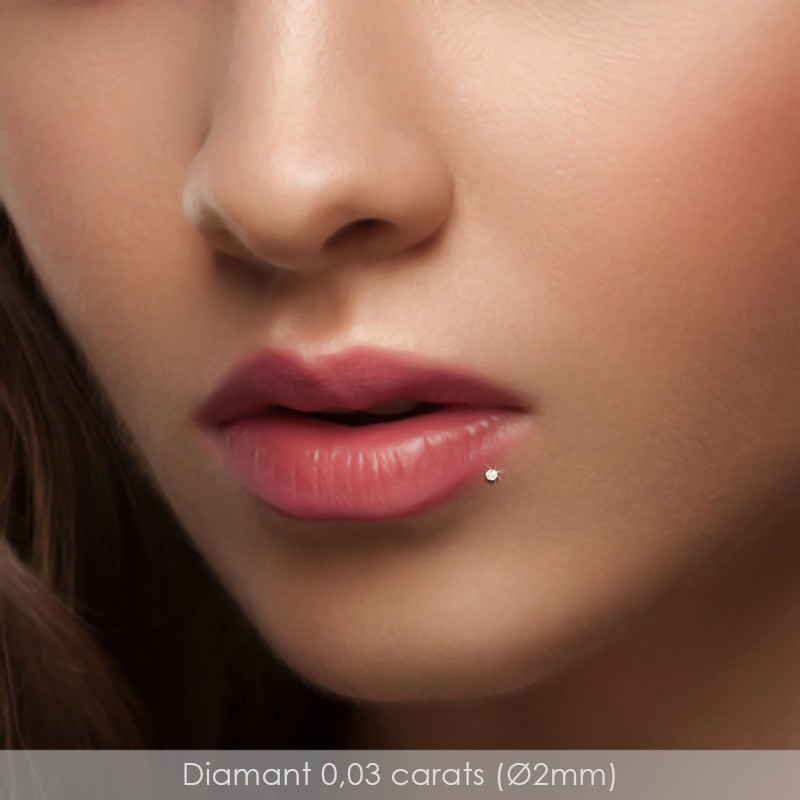 percing lèvre
