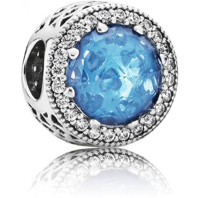 perle pandora bleu