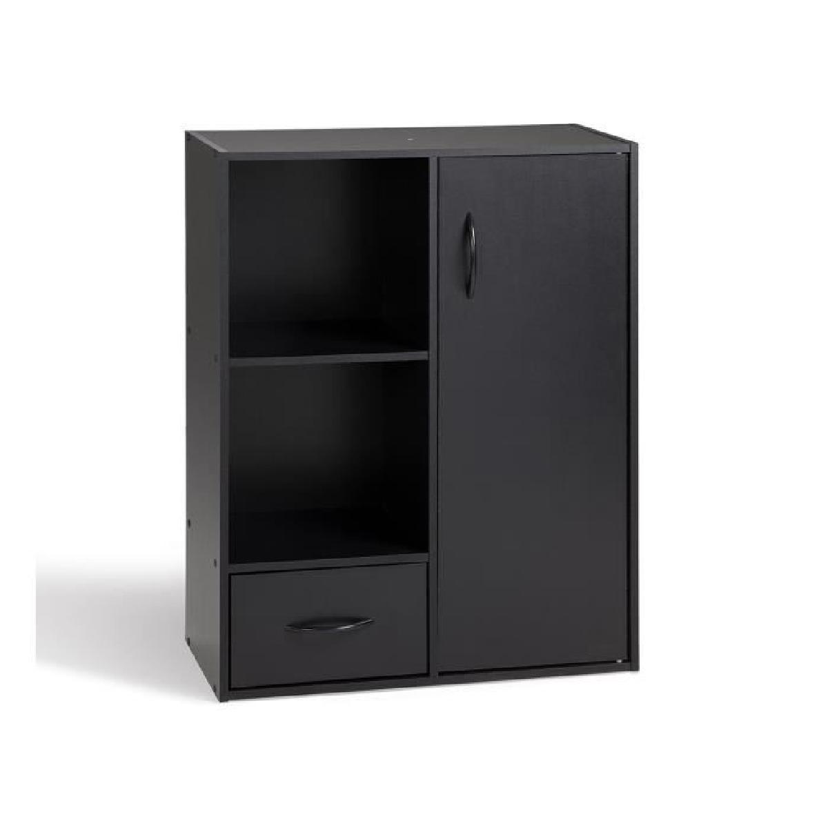 petit meuble de rangement noir