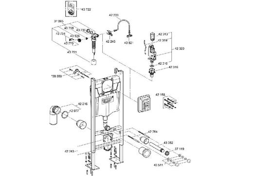 pieces detachees bati support grohe