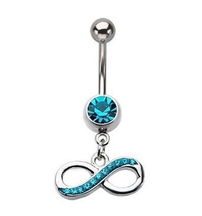 piercing nombril bleu