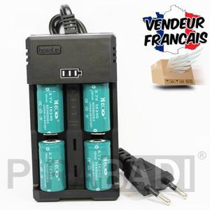 pile lr20 rechargeable avec chargeur