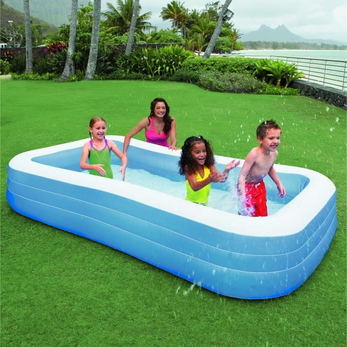 piscine carré gonflable
