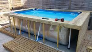 piscine hors sol habillage
